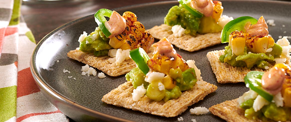 Grilled Mexican Corn & Avocado TRISCUIT Toppers