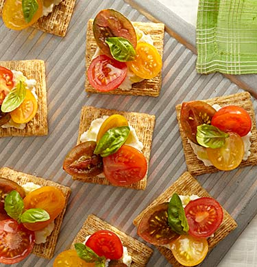 TRISCUIT Cherry Tomato-Ricotta Toppers