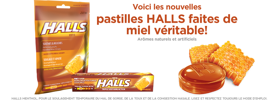 Introducing NEW HALLS Drops Made with Real Honey!