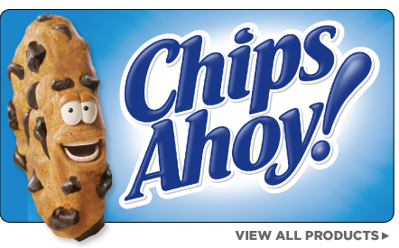 chips ahoy logo black and white
