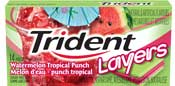 Trident Layers Watermelon Tropical Punch