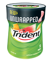 Trident Watermelon Twist Unwrapped